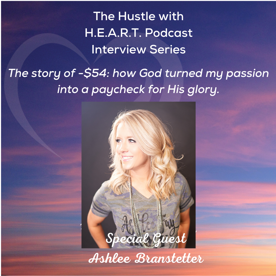 The story of - $54: how God turned my passion into a paycheck for His glory