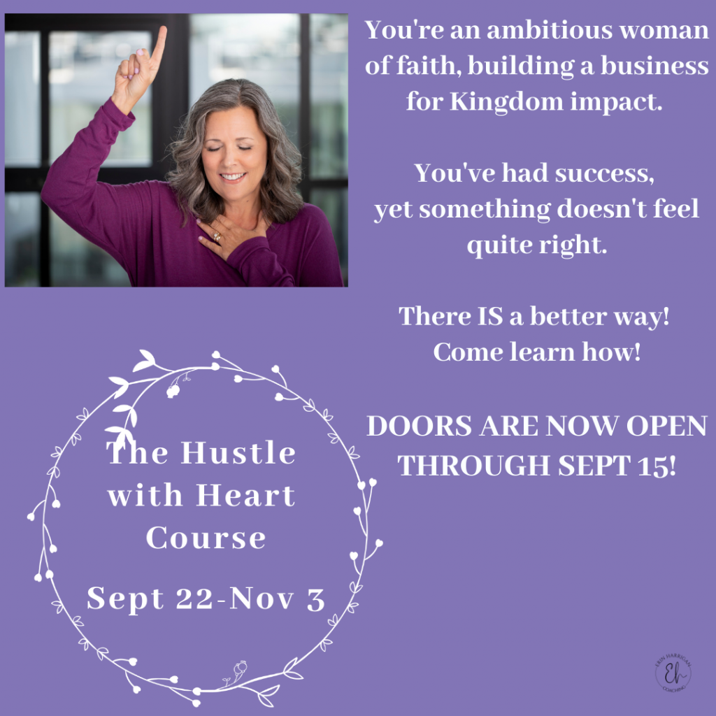 The Hustle With Heart Course - Sept 22 - Nov 3